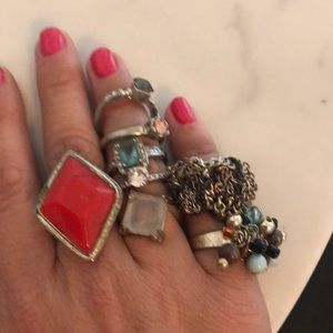 Jewelry - costume jewelry rings all around a size 7 ❤️